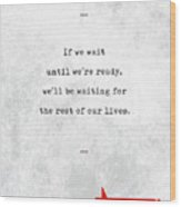 Lemony Snicket Quotes - Literary Quotes - Book Lover Gifts - Typewriter Quotes Wood Print