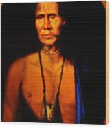 Lenape Chief Wood Print