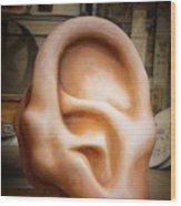 Lend Me An Ear Wood Print