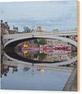 Lendal Bridge Reflection  Wood Print