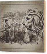 L'enfant Et Le Lion  Wood Print