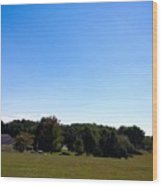 Length Wise Scene Of Countryside In Frederick Maryland Wood Print