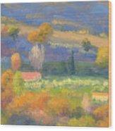 Lengthening Shadows - Tuscany Wood Print
