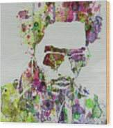 Lenny Kravitz 2 Wood Print by Naxart Studio