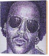 Lenny Kravitz Wood Print by Maria Arango