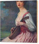 Lenoir Charles La Mandoline Wood Print