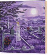 Lenore In Lavender Moonlight Wood Print