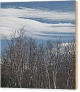 Lenticular Clouds - White Mountains New Hampshire  Wood Print