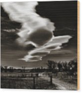 Lenticular Clouds Of Colorado Wood Print
