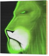 Leo Profile- Lime Wood Print