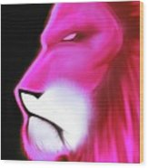 Leo Profile- Radiant Hot Pink Wood Print