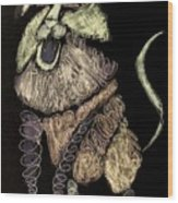Leo, Rampant -- Negative Sepia Wood Print
