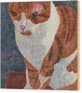 Leo The Cat Wood Print