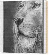 Leo The King Wood Print