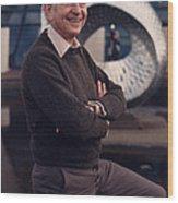 Leon Lederman, American Physicist Wood Print