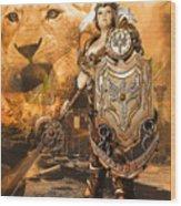 Leona Lioness Warrior  Wood Print
