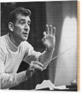 Leonard Bernstein, 1960 Wood Print