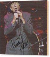 Leonard Cohen Autographed Wood Print