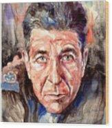 Leonard Cohen Painting Wood Print