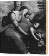 The Virgin And Chid With St. Anne Wood Print