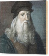Leonardo Da Vinci - To License For Professional Use Visit Granger.com Wood Print
