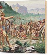 Leonidas Bids Farewell To Allies Wood Print