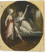 Leonore Discovering The Dagger Left By Alonzo Wood Print