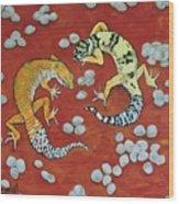 Leopard Geckos Wood Print