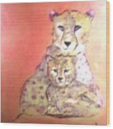 Leopard Love Wood Print
