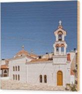 Lerapetra Church Square Pano Wood Print