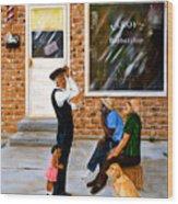 Leroys Barbershop Wood Print