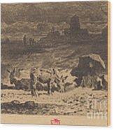Les Anes De La Butte-aux-cailles (donkeys At La Butte-aux-cailles) Wood Print