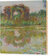 Les Arceaux De Roses. Giverny Wood Print