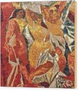 Les Demoiselles D'avignon Wood Print