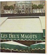 Les Deux Magots - #1 Wood Print