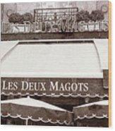 Les Deux Magots - #2 Wood Print