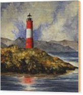 Les Eclaireurs Lighthouse Wood Print