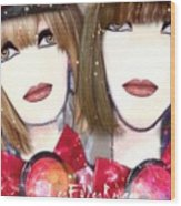 Les Filles Rouget Wood Print