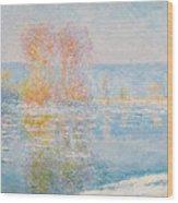 Les Glacons. Bennecourt Wood Print