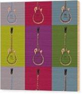 Les Paul Colorful Poster Wood Print