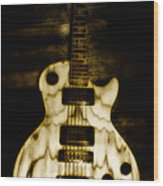 Les Paul Guitar Wood Print by Bill Cannon