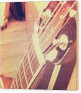 Les Paul Guitar Wood Print