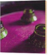 Les Paul Guitar Controls Series Wood Print