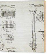 Les Paul Guitar Patent 1955 Wood Print