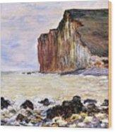 Les Petites Dalles Wood Print by Claude Monet