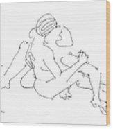 Lesbian Art 2 Wood Print