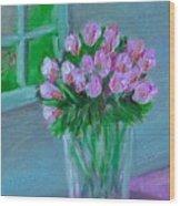 Leslie's Roses Wood Print