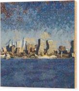 Less Wacky Philly Skyline Wood Print