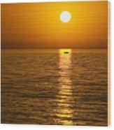Lesvos Sunset Wood Print by Meirion Matthias