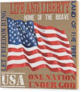 Let Freedom Ring Wood Print